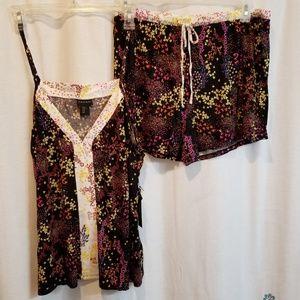 NWT 2pc tank shorts jammies pjs super soft floral